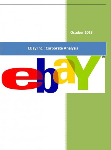 EBay Inc.: Corporate Analysis - Business Research Reports